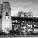 Sydney Harbour Bridge in B&W by Eve Parry