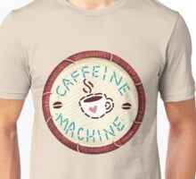 Caffeine Machine - Embroidery Patch Style Unisex T-Shirt