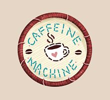 Caffeine Machine - Embroidery Patch Style Unisex T-Shirt