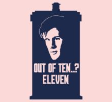 Eleven out of Ten (Tardis) Kids Clothes