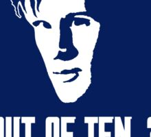 Eleven out of Ten (Tardis) Sticker