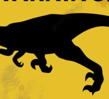 Damaged Raptor Warning Sign Sticker