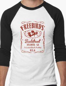 Fabulous Freebirds in Red Men's Baseball ¾ T-Shirt