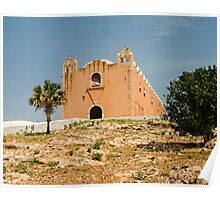 Spanish Mission on a Hill Poster