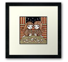 Coffee & Cup Cakes Framed Print