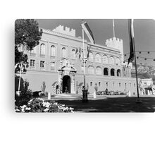 BW Principality of Monaco & princely palace 1970s Canvas Print