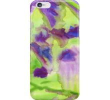 Abstract Watercolor Iris Field Purple Blue Green iPhone Case/Skin