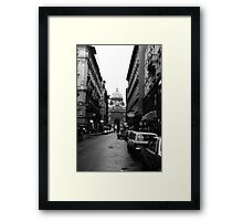 BW Austria Vienna Imperial Palace 1970s Framed Print