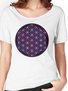 Flower of Life - Pink to Purple Women's Relaxed Fit T-Shirt