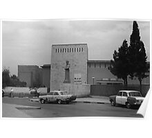 BW Iraq Baghdad museum 1970s Poster