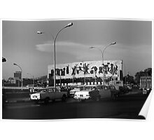 BW Baghdad Iraq tahrir square 1970s Poster
