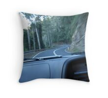 The winding road down to Bellingen, N.S.W. Throw Pillow