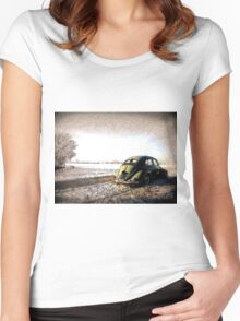Oval Split Women's Fitted Scoop T-Shirt