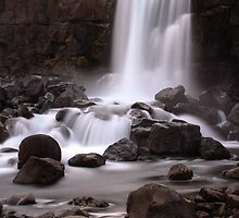 the colorful waterfall by JorunnSjofn Gudlaugsdottir