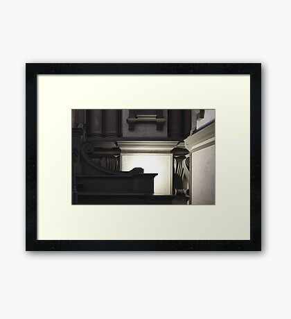 Florence - Biblioteca Medicea Laurenzia Framed Print