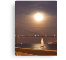 moonlight sailing Canvas Print