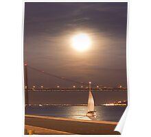 moonlight sailing Poster