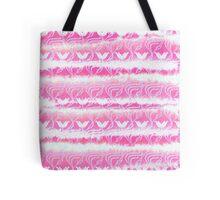 Hand-Painted Pink Watercolor Girly Waterlilies Pattern Tote Bag