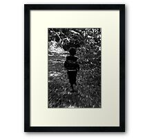 Running From The Haunted Forest Framed Print