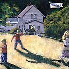 Farm Kids & Kites by Randy Sprout