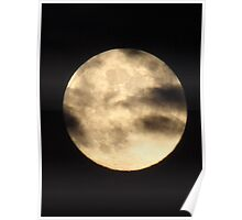 clouded full moon... Poster