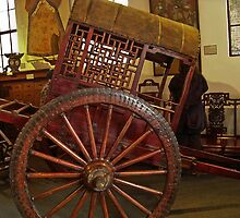 Ancient Chinese Wagon & Wheel by heatherfriedman