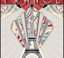 Paris, France - Travel Poster by SolarShadow1