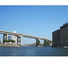 Buffalo Skyway and City Ship Canal Photographic Print