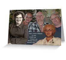 Opal Lorene Roberts and Sons Greeting Card