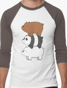 We Bare Bears Men's Baseball ¾ T-Shirt