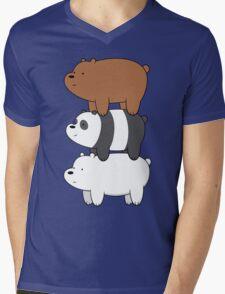 We Bare Bears Mens V-Neck T-Shirt