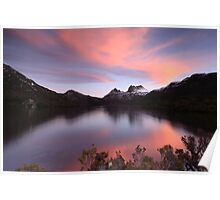 Spring Sunset at Cradle Mountain Poster