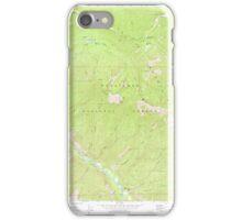 USGS Topo Map Washington State WA Brief 240229 1968 24000 iPhone Case/Skin