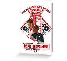 INSPECTOR SPACETIME Greeting Card
