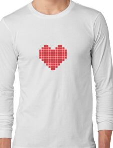 Pixel Heart Long Sleeve T-Shirt