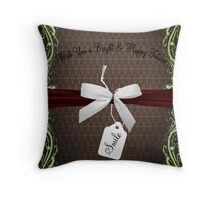 Silver & Red Throw Pillow