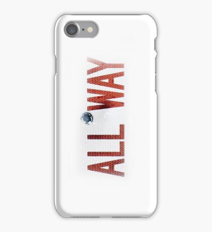 Road Sign #5 - ALL WAY #2, Apple iphone 4 4s, iPhone 3Gs, iPod Touch iPhone Case/Skin