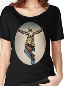 12th Century Christ Carving Photo Art Women's Relaxed Fit T-Shirt