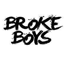 BROKE BOYS black Photographic Print