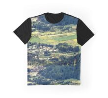 Rural Japan Rice Fields Forest Countryside Village Graphic T-Shirt
