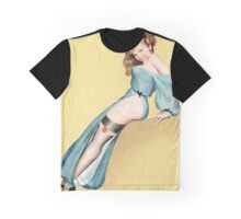Pinup Girl in Heart Garter Graphic T-Shirt