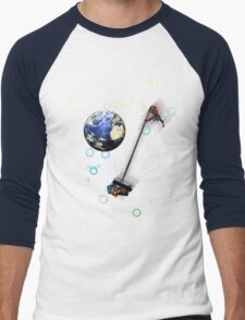 Captain planet rids the world of Batman & Robin & Jonas Bros! Men's Baseball ¾ T-Shirt