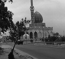 BW Iraq Baghdad  Buniya Mosque 1970s by blackwhitephoto