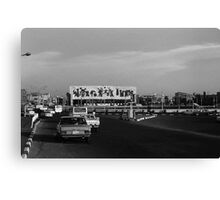 BW Baghdad Iraq tahrir square 1970s Canvas Print