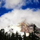 Mt. Hood among Clouds (July) by ZWC Photography