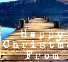 Happy Christmas from Queenstown pier Sticker