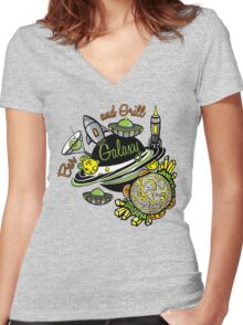 Galaxy Bar & Grill Women's Fitted V-Neck T-Shirt