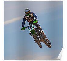 Motocross Flying Poster