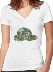 pastel autumn is coming... Women's Fitted V-Neck T-Shirt