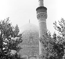 BW Iran Isfahan royal mosque 1970s by blackwhitephoto
